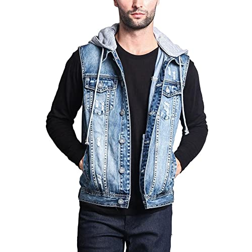 various kinds of best service fresh styles Denim Vest with Hoodie: Amazon.com