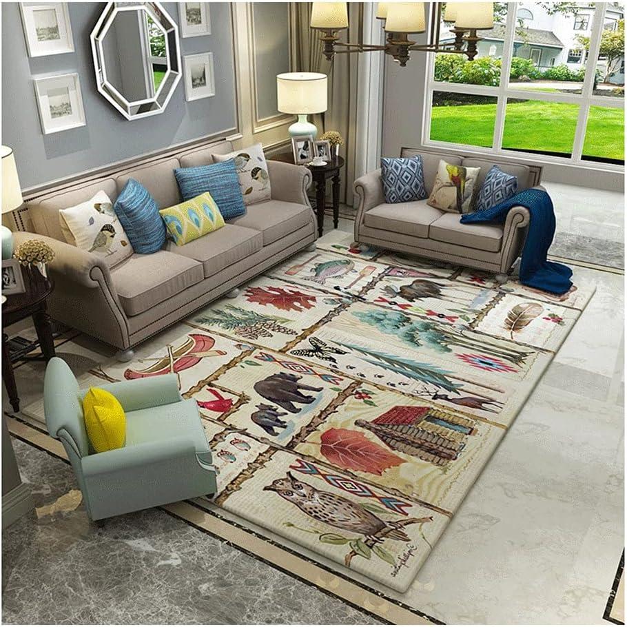 BVCDF Rug Flannel 40% OFF Cheap Sale Carpet Area American Topics on TV 3.9'x5.2' Retro St
