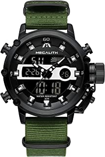 Mens Sports Watches Military Digital Gents Watch Chronograph Waterproof Wrist Watches for Man Boys Kids with Led Backlight Analog Quartz Multifunction Cool Watches Alarm Stopwatch Calendar