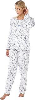 20//22 /& 24//26. rose ou bleu Marlon Boutons Crème Floral Winceyette Pyjamas