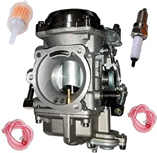CV 40mm Carburetor for Dyna Electra Glide Sportster 883 40mm 27421-99 27490-04 27465-04 with Spark Plug Fuel Filter