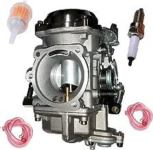 CV 40mm Carburetor for Dyna Electra Glide Sportster 883 40mm 27421-99 27490-04 27465-04 with Spark Plug Fuel Filter