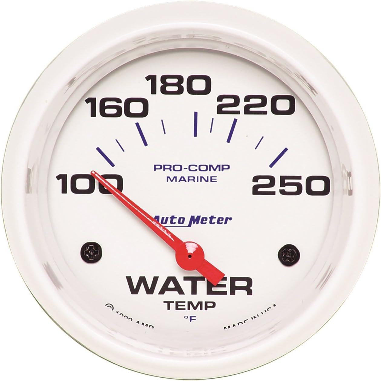 AUTO service METER 200763 Gauge Water Temp 2 5 8