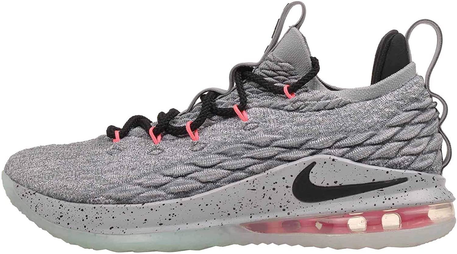 Nike Lebron 15 Low - Men's Lebron James Nylon Basketball shoes 9 D(M) US Grey
