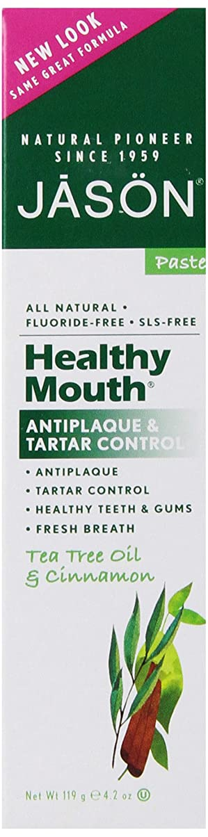 モニター環境に優しい配るJason Natural Products Healthy Mouth Toothpaste 124 ml (並行輸入品)