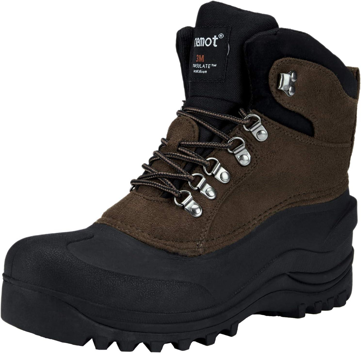 riemot Mens Max 69% OFF Snow Boots Waterproof Hiking for Trekk Japan Maker New Winter