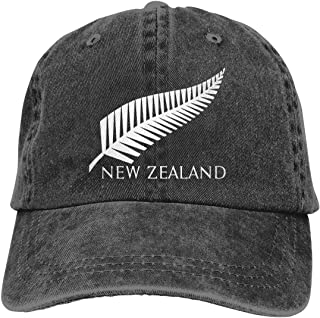 Unisex New Zealand Rugby Vintage Washed Twill Baseball Cap Adjustable Hats Funny Humor Irony Graphics of Adult Gift Black