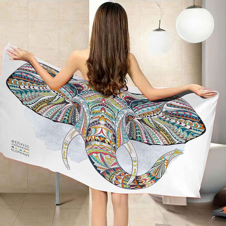TFXDBZ Microfiber Beach Towels Elephant Animal 78.74x78. New product Painted 5 popular