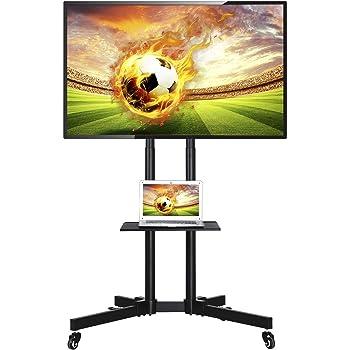 "Yaheetech Soporte Móvil de TV Televisor Soporte Altura Ajustable 89x66x 110-160 cm Pantalla 32""-65"" Carga MAX 50Kg: Amazon.es: Hogar"