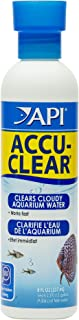 API ACCU-CLEAR Water clarifier, Clears cloudy aquarium water within several hours, Use weekly and when cloudy water is observed in freshwater aquariums only