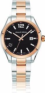 Philip Stein Men's Traveler Swiss-Quartz Watch with Two-Tone-Stainless-Steel Strap, 9 (Model: 92TRG-CBKRG-SSTRG)