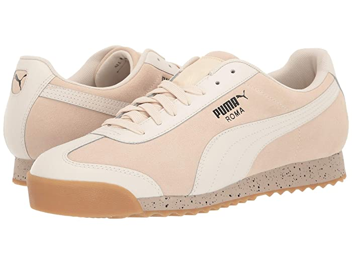Vintage Sneakers for Men and Women PUMA Roma Classic Dolce Vita White SmokeWhisper White Mens Shoes $52.50 AT vintagedancer.com