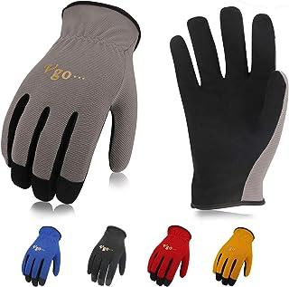 Vgo 5双入 合成革 薄手 背抜き 多目的 春秋用 薄手 作業グローブ 作業用革手袋 整備 グローブ(M,5 Colors/組,AL8736)