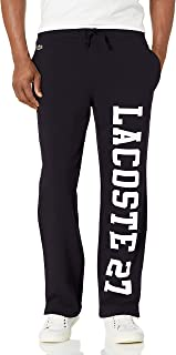 Lacoste Men's Wording Down Leg Graphic Sweatpants