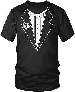 Men's Tuxedo with White Bowtie Tux T-Shirt