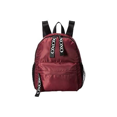 XOXO Nylon Backpack w/ Logo Webbing (Wine) Backpack Bags