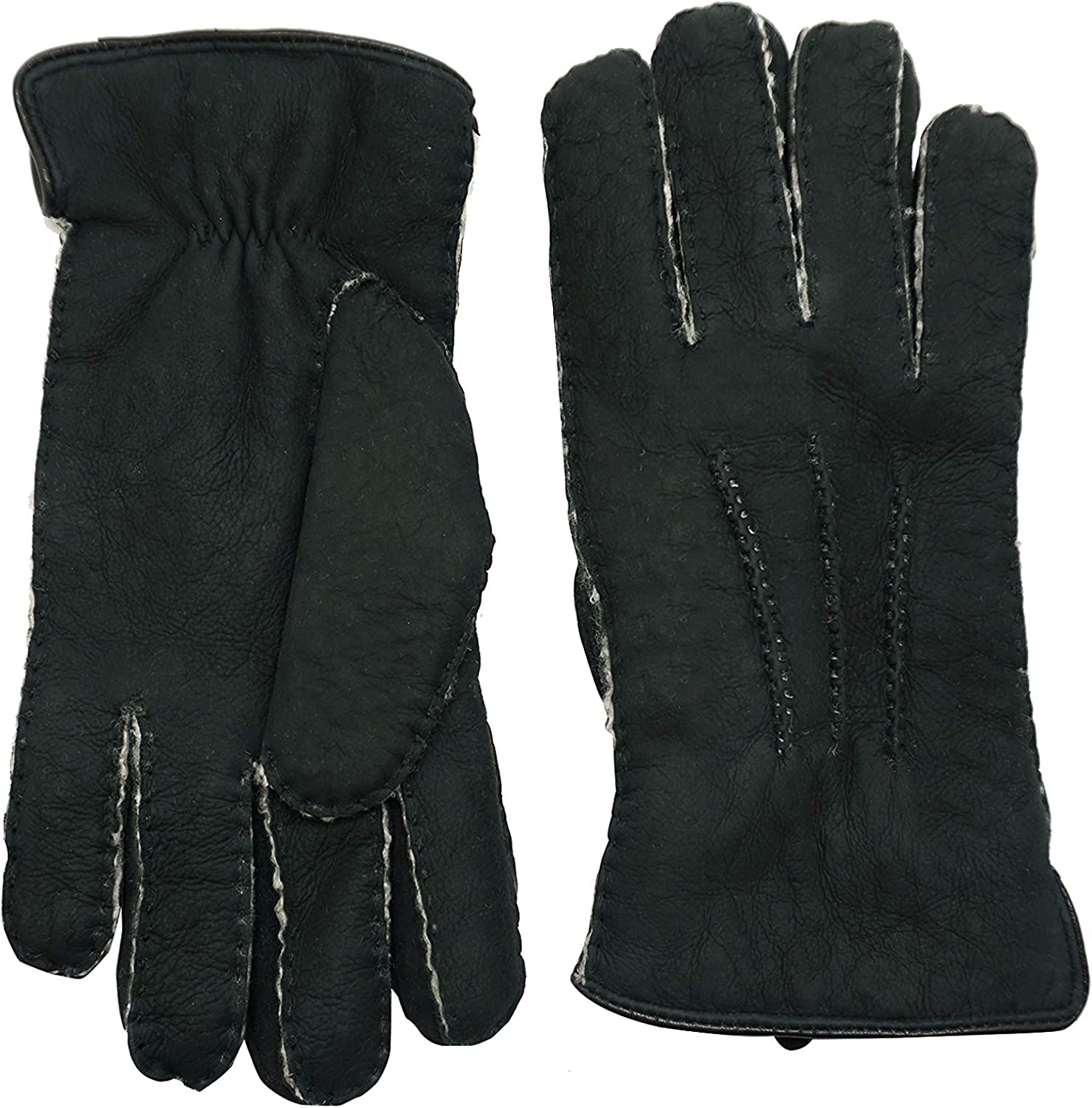 YISEVEN Women's Curly Shearling Leather Gloves