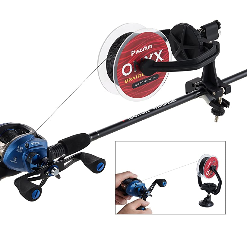 Piscifun EZ Fishing Line Spooler Portable Spooling Station System Fishing Reel Winder Baitcaster Reel Line Winder Machine