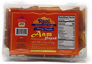 Rani Aam Papad (Mango Fruit Snack) 5.25oz (150g), , Indian Origin & Taste
