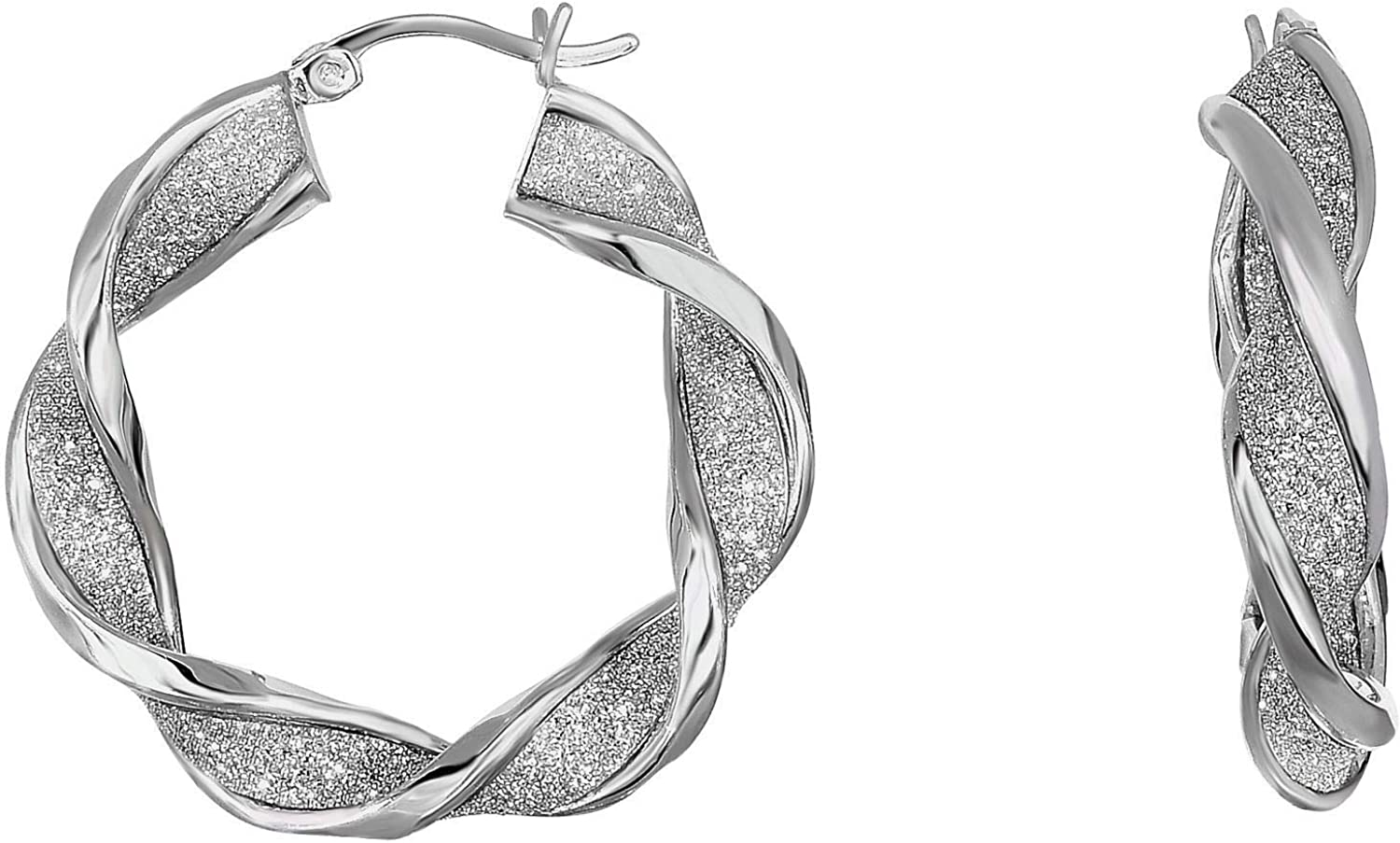 Cheap sale Silver Online limited product with Rhodium Finish 6X32mm Wreath Shiny+Diamond Type Cut