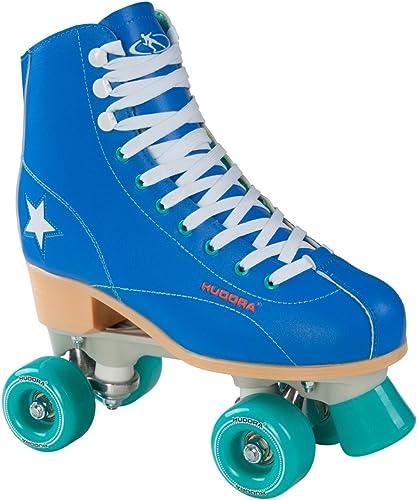 Hudora Patins à roulettes Disco Roller Rollers pour stylos Roller Bleu Vert, Taille 43, 13199