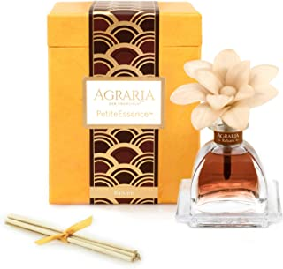 AGRARIA Balsam Scented PetiteEssence Diffuser, 1.7 Ounces with Reeds and a Flower