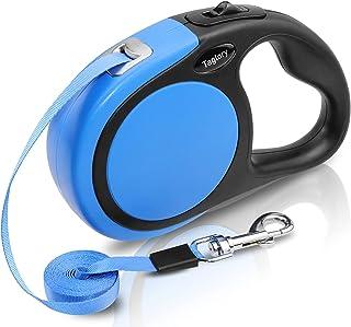 Laisses rétractables 5m Ruban Nylon Solide Jusqu'à 20 kg, Un Boutton S'arrêter / Bloquer, Chien Laisse Retractable Bleu, p...