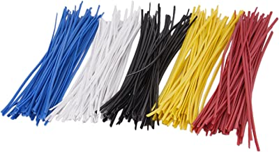 Sunmns 250 Piece Colorful Metallic Twist Cable Cord Wire Ties Reusable Fastening, 6 Inch