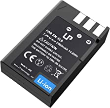LP EN-EL9 EN EL9a Battery, Rechargeable Li-Ion Battery, Compatible with Nikon D40, D40X, D60, D3000, D5000 Cameras, Nikon MH-23 Charger
