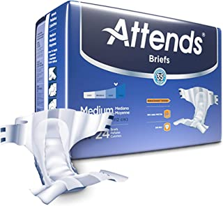 (m) - Attends Briefs Unisex with Advanced DermaDry Technology for Adult Incontinence Care (Choose Your Size)