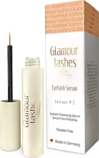 Eyelash Growth Serum Made in Germany - Effective lash Enhancer & Booster for longer lashes and thicker brows | Glamor Lashes Edition 2
