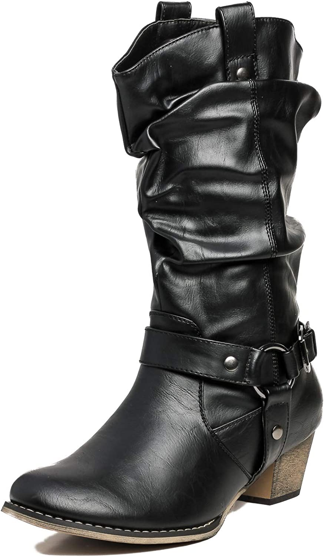 Refresh Women Wild-02 Western Style Cowboy Boots