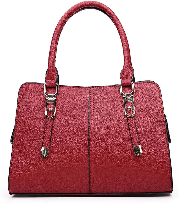 DHFUD Frauen Leder Schultertasche Handtasche Handtasche Handtasche Auto Naht Einfarbig Mode Täglich B0773DL7CW  Fairer Preis b292ac