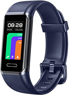 Fitness Tracker, Smart Touch Screen Activity Tracker with Heart Rate Monitor & Blood Oxygen Saturation, Calorie Step Counter, Alexa Built-in, 5ATM Waterproof, Pedometer Watch for Women Men