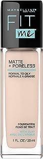 Maybelline Fit Me Matte + ناخالص مایع آرایش بنیاد، عاج طبیعی، 1 فل. اوز بنیاد نفت آزاد