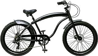 Fito Men's Modena GT 2.0 Aluminum Alloy 7 Speed Beach Cruiser Bike, Black, 18