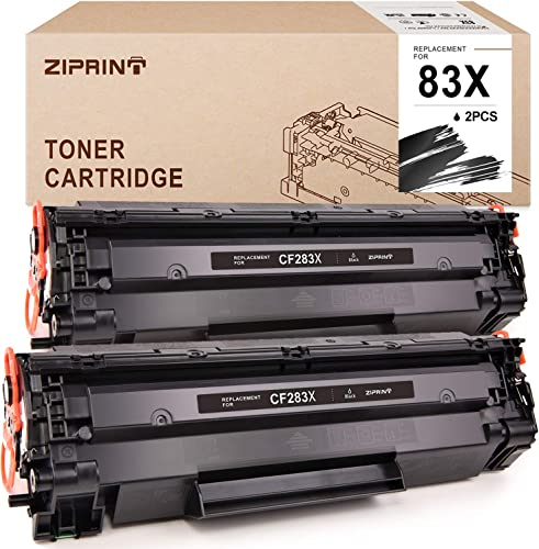 wholesale ZIPRINT Compatible Toner Cartridge outlet online sale Replacement for HP 83A CF283A 83X CF283X to use with Laserjet Pro M201dw MFP M225dw MFP M225dn MFP M225nw Printer (Black, high quality 2 Pack) online