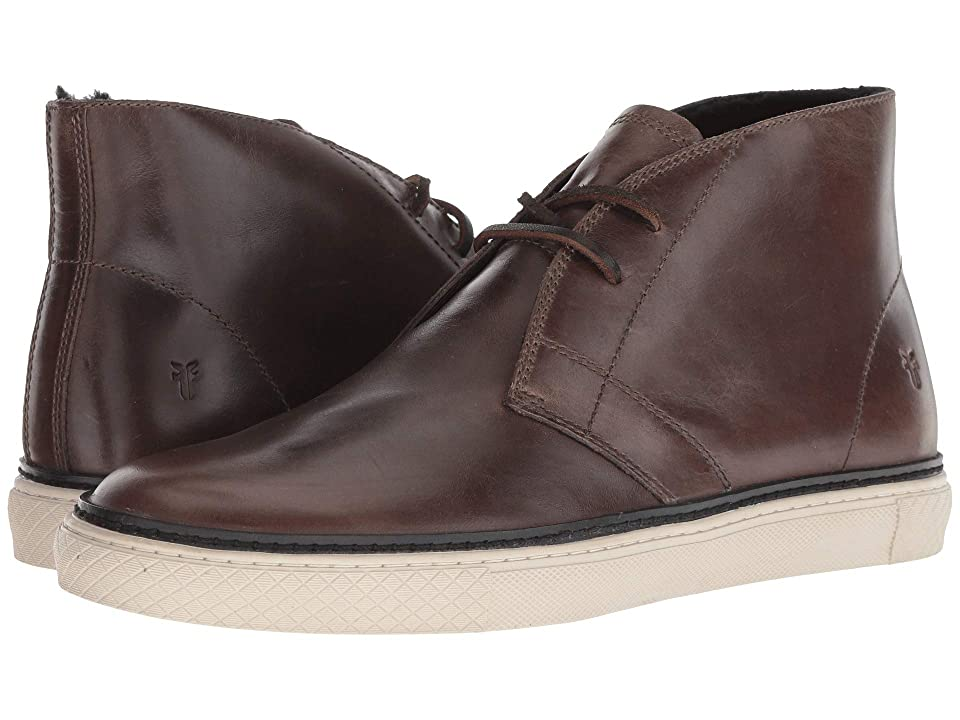 Frye Essex Chukka (Charcoal WP Smooth Pull-Up/Shearling) Men