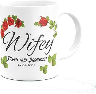 Hubby and Wifey Mug Set Farmhouse Style Coffee Mugs Rae Dunn Inspired Coffee Mugs Newlywed Mugs Coffee Mug Gift Set Husban...