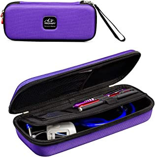 Prohapi Hard Stethoscope Case with ID Slot Compatible with 3M Littmann/ADC/Omron Stethoscope Includes Mesh Pocket for Nurse Accessories (Purple)