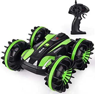 GotechoD Remote Control Car for Boys, Offroad RC Car 4x4 RC Truck Waterproof Remote Control Truck Stunt Car Radio Controlled Vehicle RC Electric Cars for Boys Toys 5-16 Years Old Kids Gift Green