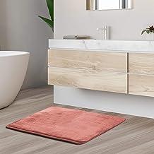 Bath Mat Bathroom Rug - Absorbent Memory Foam Bath Rugs - Non-Slip, Thick, Cozy Velvet Feel Microfiber Bathrug, Plush Show...