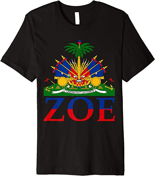Zoe Shirt | Cute Haiti Honored Flag Day T-shirt Gift