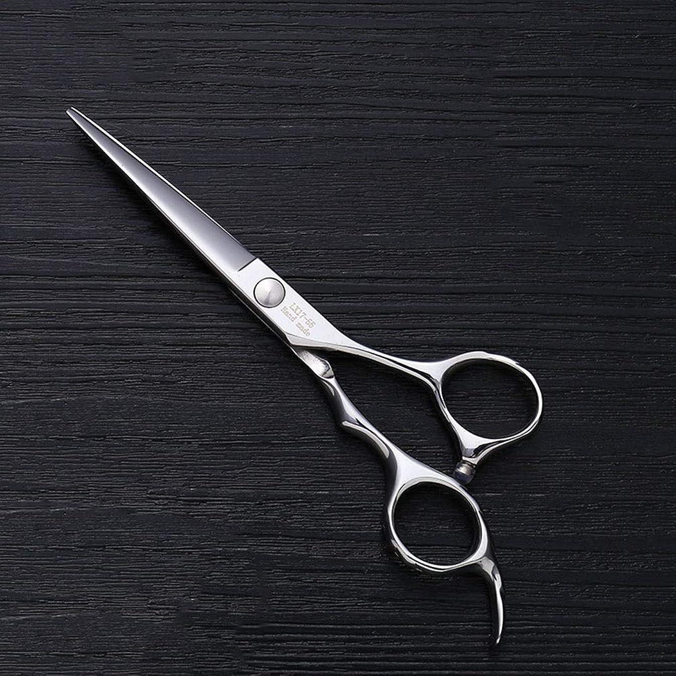 ヘロイン侮辱聞く5.5インチ理髪師プロのヘアカットフラットせん断高品質理髪ツール モデリングツール (色 : Silver)