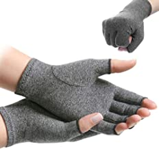 Centerline Compression Arthritis Gloves Active Gloves Hand Therapy Fingerless Gloves for Men Women Increase Circulation Re...