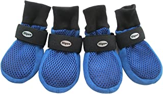 HiPaw Breathable Mesh Dog Boots Hot Pavement Nonslip Rubber Sole Paw Protector for Summer