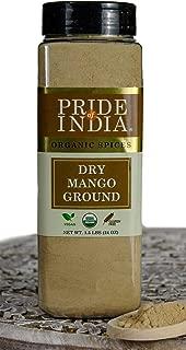 Pride Of India- Organic Dry Mango (Amchur) Powder - 24 oz (680 gm) Large Dual Sifter Jars - Vegan Sun-Dried Spice - Best for Chutneys, Soups, Marinades etc.- Offers Amazing Value for Money.