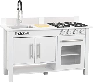 KidKraft 53407 Little Cook's Work Station Kitchen Play, White