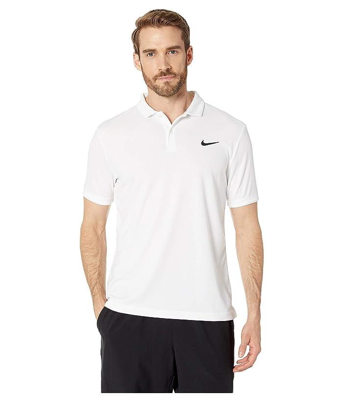 Nike NikeCourt Dry Polo Team (White/White/White) Men