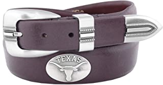 NCAA Kansas Jayhawks Croc Leather Webbing Concho Belt
